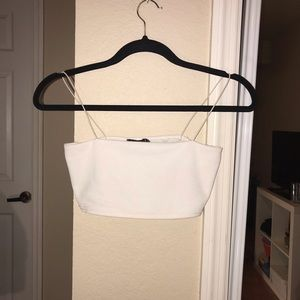 Boohoo white sports bra